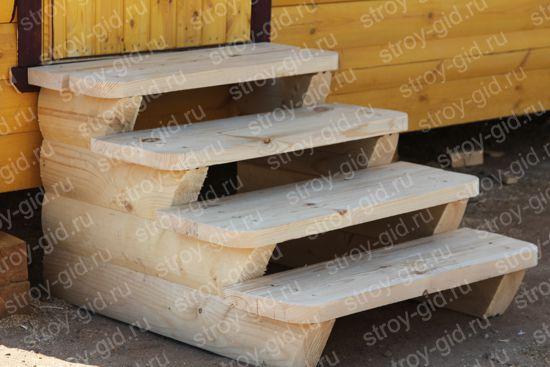 Как сделать ступеньки в баню из дерева своими руками 77